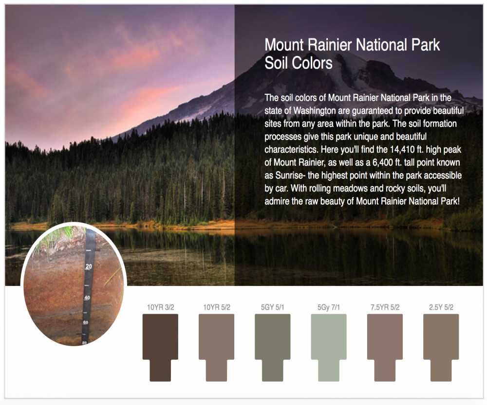 SOIL COLORS IN THE NATIONAL PARKS Geography - Soil color us map