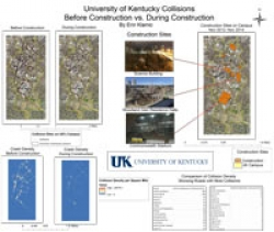 University of Kentucky Car Collision before and during Campus Contruction, bt Erin Klamic