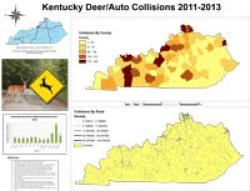 Kentucky's Deer v. Car Collisions 2011-2013, by Jesse Hunter
