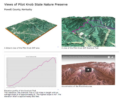3D views and animations of Pilot Knob State Nature Preserve