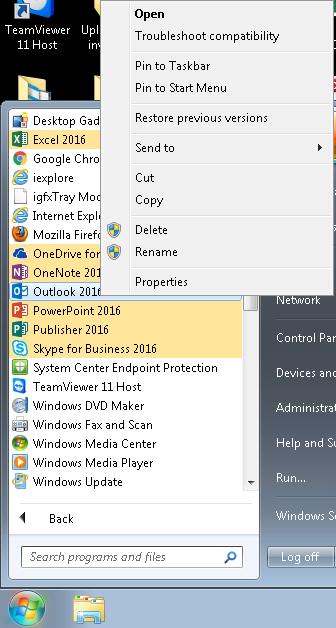 Reestablishing Microsoft Office Desktop Shortcuts | Geography
